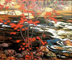 Tom Thomson, Red Maple, Group of Seven Emily Carr, Group Of Seven Artists, Group Of Seven Paintings, Canadian Painters, Canadian Artists, Jackson, Landscape Artwork, Landscape Posters, Of Montreal