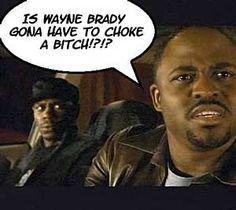 "haha when I told jason that wayne brady wasn't black and he said ""have you seen the Chapelle show"" whahaha"
