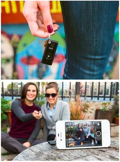 Snap a selfie from more than one arms length away!  The Muku Shutter Remote let's you take photos from up to 30 feet away, right in your regular camera app (no special download required). A switch on the side let's you toggle between iPhone and Android.