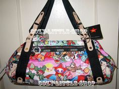 NWT LeSportsac TOKIDOKI SPIAGGIA *GIOCO* Bag ~SANDY+BEACH+SCUBA MONKEY+~A++PRINT in Clothing, Shoes & Accessories, Women's Handbags & Bags, Handbags & Purses | eBay