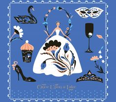 Swam Lake Clip Art Ballet Russian Inspired Fairy by ReaniDesigns