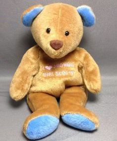Mary-Meyer-Plush-Junior-Girls-Scout-Belly-Beans-I-Love-Brownie-Girl-Scouts-Bear
