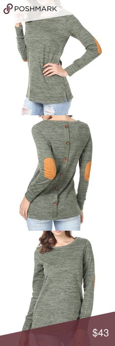 Long Sleeve, Loose Fit, Side Split, Tunic Material -- 50% Cotton/45% Polyester/5% Spandex. Good Elasticity, Soft and Comfortable. US Size: Large-US(12-14); Medium-US(8-10); Small-US(4-6); X-Large-US(16) EllaB Tops Tunics