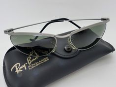 Vintage BL Ray Ban W2566 Olympian Matte Silver G15 Sunglasses NOS Very Rare! by VSOx on Etsy