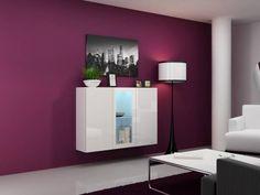 Závěsná komoda Cama Meble VIGO White Sideboard, Sideboard Cabinet, Armoire Buffet, Ibiza, Small Chest Of Drawers, Led, Bari, White Bedroom, Bathroom Medicine Cabinet
