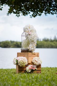 birdcage wedding decor with rustic boxes perfect for the boho bride or barn wedding