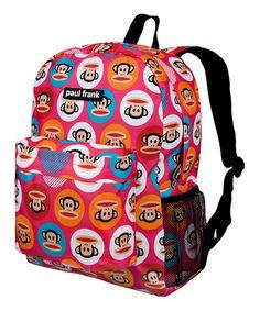 Look at this #zulilyfind! Pink Paul Frank Dot Crackerjack Backpack #zulilyfinds