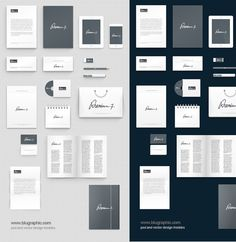 XOO Plate :: Full Corporate Identity Mockup Templates Set PSD - Create an identity package with these amazing mockup templates - letterheads, business cards, envelopes, CD cover, CD box, bag, pen, pencil, calendar, brochure, shopping bag, notebook and more... PSD vector shapes for easy editing.  (pay with Tweet at authors site)