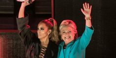 "The ""Booty"" singer performed a free concert in Miami on Saturday night to show her support for Democratic presidential nominee Hillary Clinton"