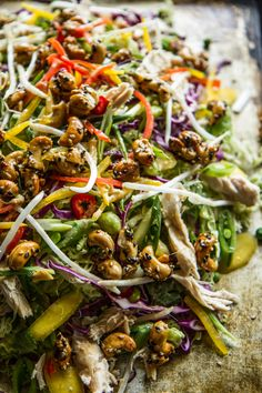 Ultimate Asian Chicken Chopped Salad from @heatherchristo! This is what life is all about right here.