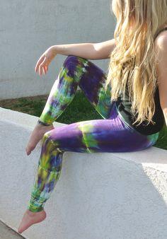 Tie Dye Yoga Leggings in Mardi Gras - AkashaSun - etsy.com/shop/akashasun
