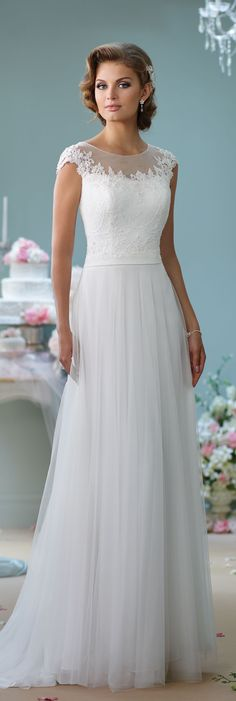 Wedding Dresses by Mon Cheri - Enchanting Spring 2016 ~Style No. 116137 #tulleweddingdress
