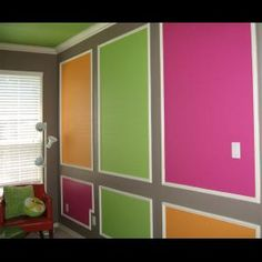 painting idea for Ally's room or playroom. different colors though