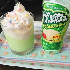 What a nice day to enjoy a melon cream soda ice cream float  by gummyoctopus