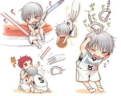 New basket ball anime kuroko kawaii ideas Kawaii Chibi, Cute Chibi, Anime Chibi, Kawaii Anime, Manga Anime, Anime Art, Mayuzumi Chihiro, Akashi Kuroko, Akakuro