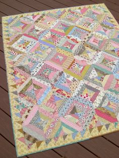 "Isn't this pretty?  Sweet Dreams Nap Quilt, New Vintage Style, Retro, Throw, 50"" x 61"". $310.00, via Etsy."