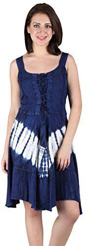 Lapogee Inc womens Tie Dye Rayon Short Dress