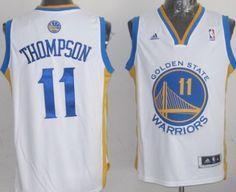 Golden State Warriors #11 Klay Thompson Revolution 30 Swingman White Jersey