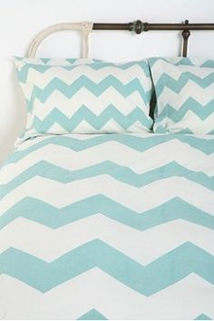Zigzag Sham - Set Of 2  set of two shams $34. I love these with the polka dot duvet from urban outfitters