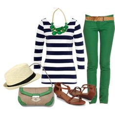 """""""Untitled #142"""" by rainbowprincess on Polyvore - green jeans"""