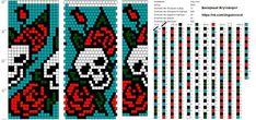 Wayuu Mochila pattern skull and roses