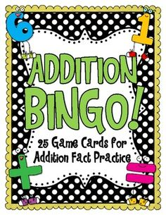Freebie! This game includes 25 cards that help students practice their addition facts!