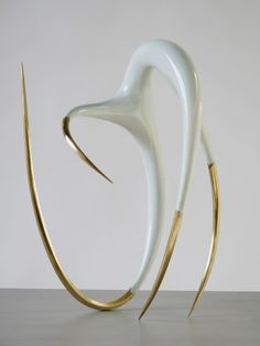 """Oliver Barratt, """"Point of View"""", 2008, brass and resin paint, 55x40x30cm."""