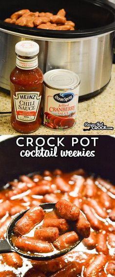 These Crock Pot Cocktail Weenies are a simple dish to throw together for a party. Three ingredients and your slow cooker does all the work for you!