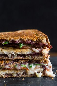Mixed Berry Chicken Bacon Jalapeno Grilled Cheese