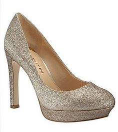 """My wedding shoes...it made my dad giggle and say """"well at least your dress is long enough to cover all that bling"""""""
