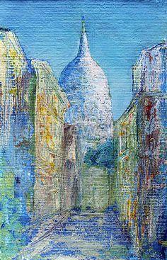 Montmartre Street In The Paris, France Art Print Home Decor Wall Art Poster - G Free Art Prints, Wall Art Prints, Poster Prints, France Art, Paris France, Acrylic Artwork, Paris Art, Paris Photos, Home Decor Wall Art