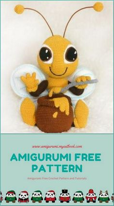 amigurumi amigurumi idea # 31661 shared by Ila Easy Knitting Projects, Easy Knitting Patterns, Crochet Projects, Crochet Patterns, Crochet Bee, Crochet Toys, Free Crochet, Doll Patterns Free, Free Pattern
