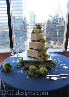 Peacock Wedding Cake Wedding Bells, Wedding Reception, Our Wedding, Dream Wedding, Wedding Stuff, Peacock Wedding Cake, Peacock Theme, Wedding Cakes, Purple And Green Wedding