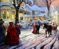 Victorian Christmas Snow Scenes | Details about Victorian Christmas Carol 18x27 S/N Framed Limited ...
