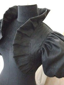 LOUIS XIV LOVE black raw silk bolero by...