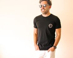 The Lomas Brand- USA Made Black Pocket T