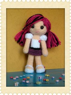 An amigurumi doll like this one is perfect for any toddler or school-aged child. Crochet dolls are the new Barbies!