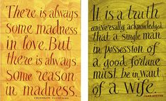 Pride and Prejudice Quotes: Jane Austen is my second favorite author (behind JK Rowling) and Pride and Prejudice is my favorite of her books.