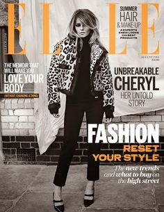 awesome Elle UK Agosto 2014   Cheryl Cole  [Capa]