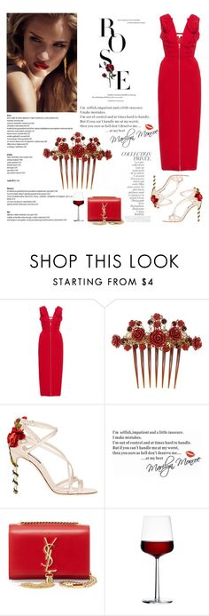 """""""Crimson Rose"""" by the-new-black ❤ liked on Polyvore featuring By Terry, Delpozo, Dolce&Gabbana, WALL, Yves Saint Laurent and iittala"""
