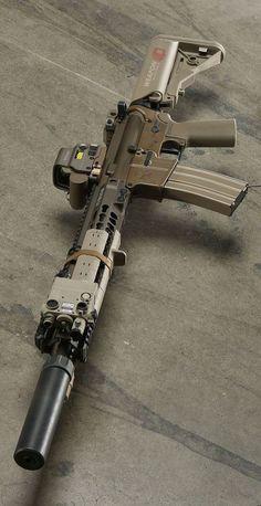 Airsoft Guns, Weapons Guns, Guns And Ammo, Custom Guns, Custom Ar, M4 Carbine, Military Weapons, Military Life, Cool Guns
