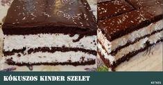 kokuszos-kinder-szelet2 Tiramisu, Food And Drink, Sweets, Ethnic Recipes, Minden, Cakes, Gummi Candy, Cake Makers, Candy