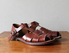 Vintage BASS Strappy Leather Sandals