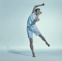 Exclusive shoot of the Ballet Rambert for Guardian Weekend magazine feature celebrating its 90th anniversary. Photograph by Rick Guest, styling by Melanie Wilkinson and Helen Seamons. Dancer is Daniel Davidson