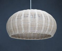 Hand Woven Oval Natural Rattan Lamp by VIWEI on Etsy