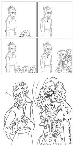 SLAP! haha however Thranduil looks like a total jerk they did a terrible job drawing him.  KILI LOOKS SO CUTE