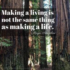 Making a living is not the same thing as making a life | Lessons from Maya Angelou's Legacy  | quotes |