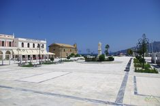 Solomos Square (Platia Solomou) at Zakynthos capital Olympus, Greece, Louvre, Building, Travel, Greece Country, Viajes, Buildings, Destinations