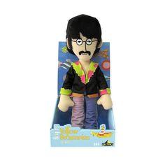 Peluche de John Lennon basado en la animación del clásico de 1968 Yellow Submarine. John fue el fundador del grupo (con otro nombre y componentes incialmente) y el líder del cuarteto de Liverpool. En su exitosa carrera dió muestras de un ingenio y creatividad extraordinarios así como de un carácter inconformista y rebelde.