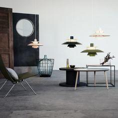 PH 5 Contemporary pendants by Louis Poulsen.